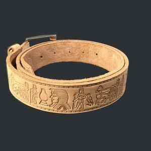 "Other - 42"" EGYPTIAN HAND/TOOLED ENGRAVED LEATHER BELT"